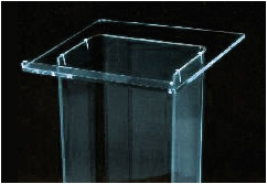Clear Acrylic Podiums